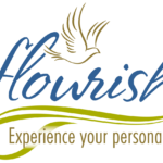 """Flourish logo featuring a dove and and words that read """"Experience Your Personal Best."""""""